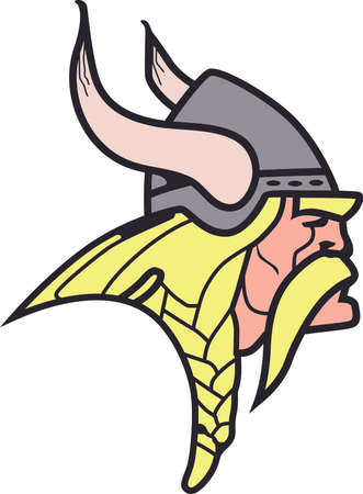 Time to cheer for the team with this Viking mascot design.  A perfect design for all the fans from Great Notions. Ilustracja