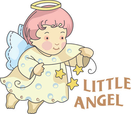 Every time a bell rings and angel gets their wings.  A beautiful design from Great Notions. Ilustracja