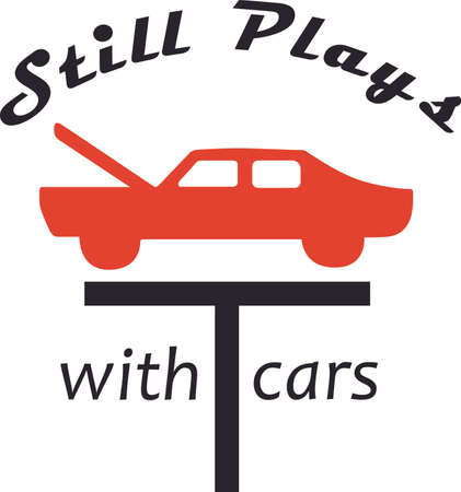 You entrust your car to your mechanic.  This design is perfect for thanking them! They will love it! Ilustracja