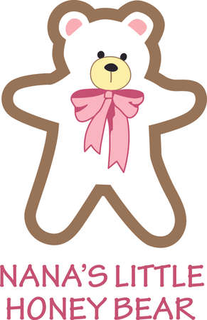 bruins: All ready for bed with her favorite teddy bear and blankie.  This is the perfect design to go with her as you read a bedtime story.