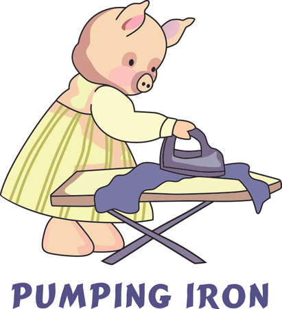 This little piggy stayed home.  A cute design for the nursery. Çizim