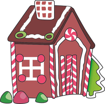 This cute gingerbread house is a perfect design for Christmas.  Complete with a holly and berries.  Get these designs from Great Notions.