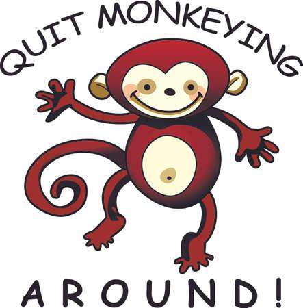 chimpances: El mono ve, mono hace, recordando esta canci�n infantil trae recuerdos de la vida sin preocupaciones como un ni�o. Dale esto a un ni�o y hacer que los recuerdos m�s divertidos. Se les va a encantar!