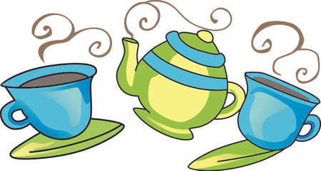 The perfect addition for a relaxing afternoon, your favorite cup of tea.   イラスト・ベクター素材