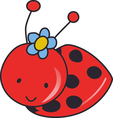 lady cow: Kids enjoy spending time at the park.  This is the perfect design to take with you.  Everyone will love this adorable ladybug!