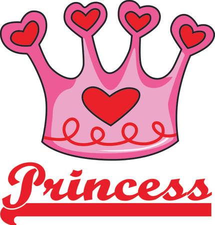 Always daddys princess at any age.  Perfect for a shirt. Illusztráció