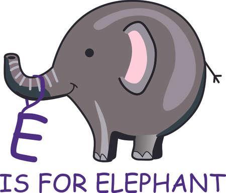 Stuur deze gelukkige olifant aan een kind. Zij zullen love it!