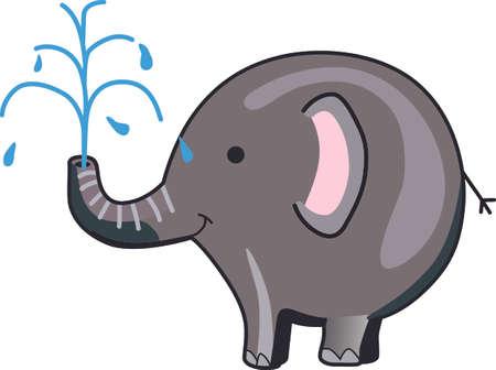 이 행복 코끼리를 아이에게 보내십시오. 그들은 그것을 좋아할 것이다! 일러스트