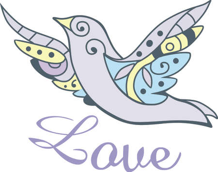 Send some Christmas cheer with this dove.  Joy, peace and love!  These make a perfect house warming gift.  They will love it. Ilustrace
