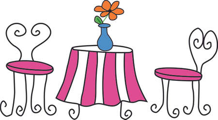 patio furniture: Remember the wonderful family vacation to Paris all year round with this design  Illustration
