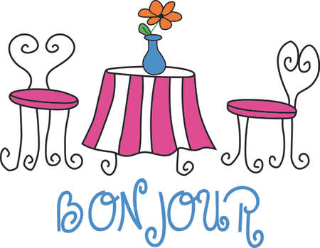 patio furniture: Remember the wonderful family vacation to Paris all year round   Illustration