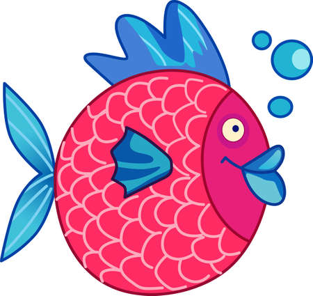 ���little one���: Four little fish go swimming by.  Send your little one to dreamland with these cute fish.  Perfect for the nursery!