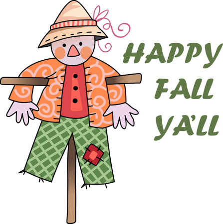 autumn scarecrow: A scarecrow is a perfect fall decoration.