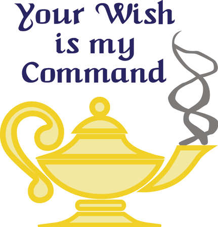 Be careful what you wish for.  This magic lamp is the perfect fairy tale design.