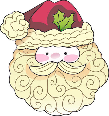 kris kringle: This cute Santa is a perfect design for Christmas.    Illustration