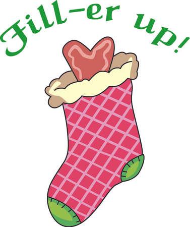 Dieses nette Strumpf ist ein perfekter Entwurf für Weihnachten. Holen Sie sich diese Motive von große Begriffe. Standard-Bild - 44985344