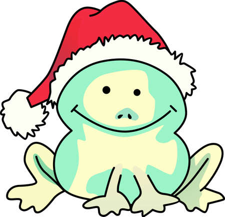 christmas frog: Send some Christmas cheer  with this cute frog.  Merry Christmas to all!  These make a perfect for adding to your festivities.  They will love it.