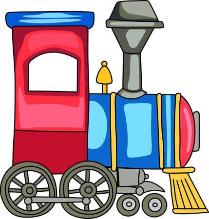 Een leuke trein voor een kwekerij decor.