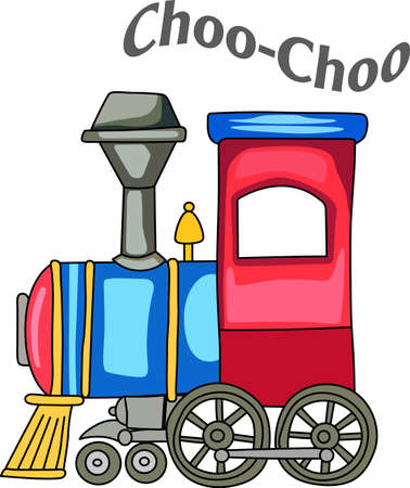 A cute train for a nursery dcor. 版權商用圖片 - 44985801