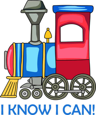 A cute train for a nursery dcor. Ilustração