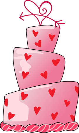 layer cake: Send a love note to your loved one.  This cute cake is perfect.  She will love it!