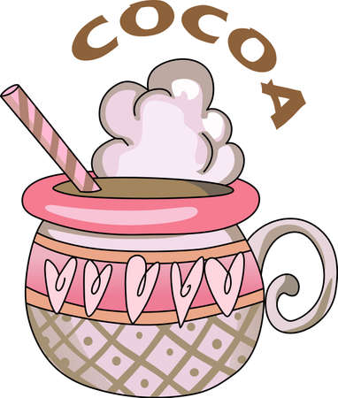 hot chocolate: Send a love note to your loved one.  This cute hot chocolate is perfect.  She will love it!