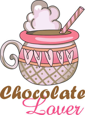 hot chocolate drink: Send a love note to your loved one.  This cute hot chocolate is perfect.  She will love it!