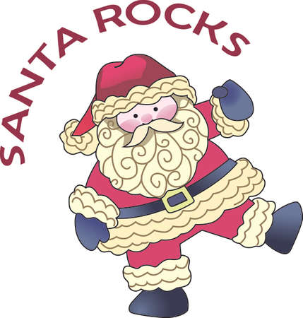 saint nick: This cute Santa is a perfect design for Christmas.  Get these designs from Great Notions. Illustration