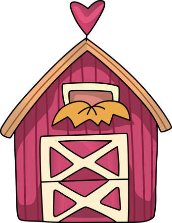 farm structures: The country farm house is a relaxing place to visit and get away from the fast pace of the city.  This is a cute design from Great Notions. Illustration