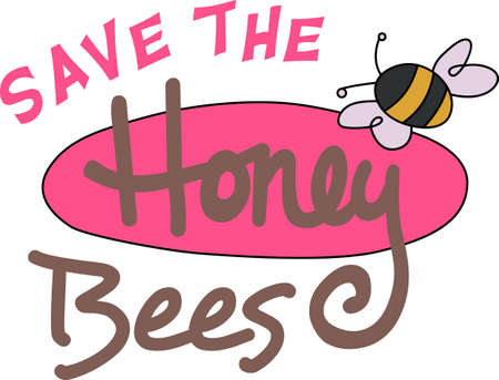 bumble: Some fresh honey is a perfect springtime treat with beautiful bees.  A beautiful design by Great Notions!