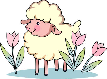 Counting sheep help you sleep.  Send your little one to dreamland with these cute sheep.  Perfect for the nursery! Illustration