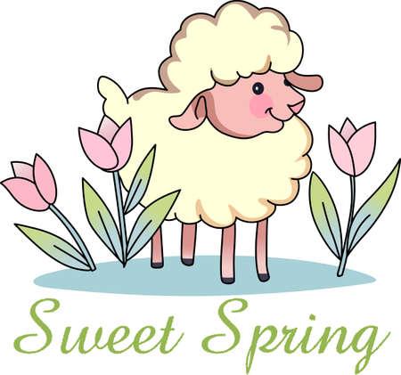 little one: Contando ovejas ayuda a dormir. Env�e su peque�o a tierra de los sue�os con estos ovejas lindas. Perfecto para la guarder�a!