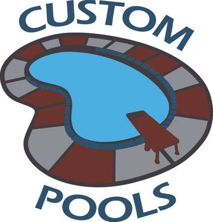 Use this pool design for a towel for use by the pool.