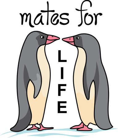 This adorable little penguin is perfect for your decorating.   Perfect for Valentines Day. Illustration