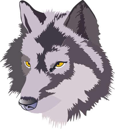 홈 Greatnotions에 의해 디자인이 늑대 머리와 원시적 인 터치 추가합니다. 일러스트