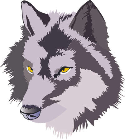 Add your home a primitive touch with this Wolf Head designed by Greatnotions. Ilustracja