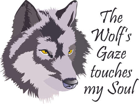 Add your home a primitive touch with this Wolf Head designed by Greatnotions. Stock Vector - 44987817