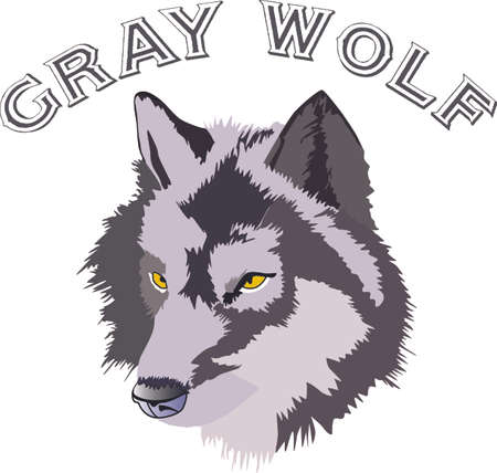 Add your home a primitive touch with this Wolf Head designed by Greatnotions. Иллюстрация