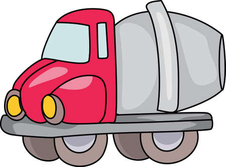 roadwork: Kids love to play with trucks and digging in the dirt.  Designate their special clothing with this design so all their clothes dont end up soiled. Illustration