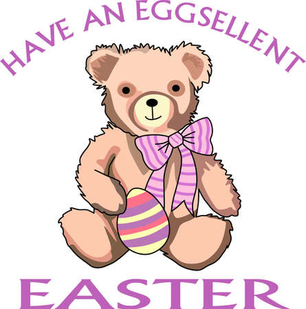 Send some Easter cheer  with this bear.   This make a perfect for adding to your festivities.  They will love it!