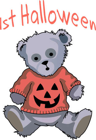 bruins: Send some Halloween cheer  with this bear.   This make a perfect for adding to your festivities.  They will love it!