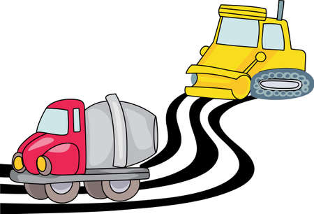 Kids love to play with trucks and digging in the dirt.  Designate their special clothing with this design so all their clothes dont end up soiled. 向量圖像