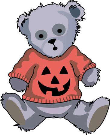 Send some Halloween cheer  with this bear.   This make a perfect for adding to your festivities.  They will love it!