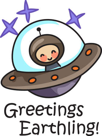 martians: This cute design of a martian from outer space makes the perfect gift to babys nursery.  Mom and dad will love it! Illustration