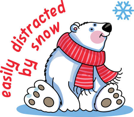 This beautiful snowflake and polar bear is a perfect design for this winter.  Pick those designs from Great Notions.