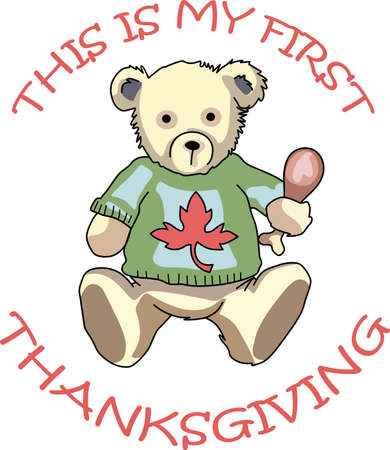 Send some Thanksgiving cheer  with this bear.   This make a perfect for adding to your festivities.  They will love it!