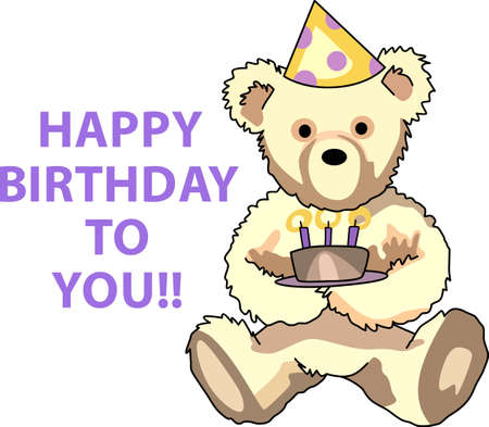 this: Send some birthday cheer  with this bear.   This make a perfect for adding to your festivities.  They will love it!