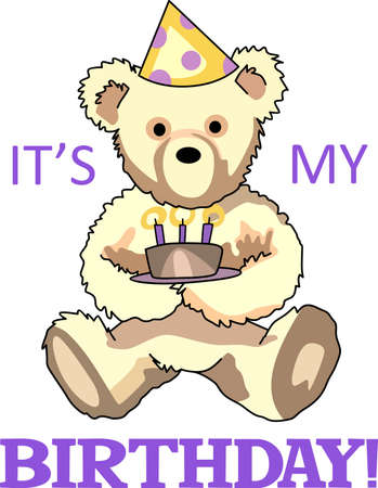 Send some birthday cheer  with this bear.   This make a perfect for adding to your festivities.  They will love it!