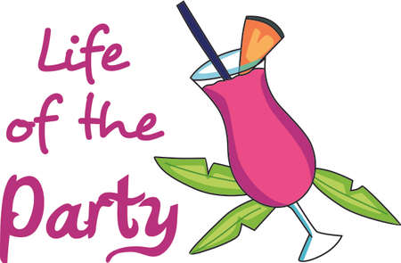 garnish: Why wait til five oclock for a drink  Start the party now.  Everyone will love it! Illustration