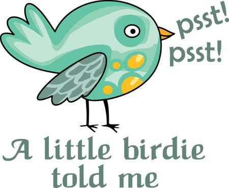 Psst, psst! Een klein vogeltje vertelde me dat speciaal iemand wil dit beeld. Stock Illustratie